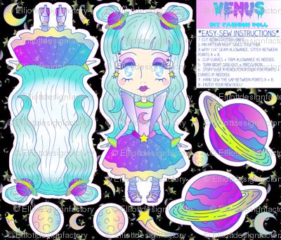 """""""Venus"""" DIY Kawaii Fashion Doll Cut + Sew Project"""