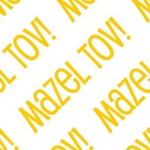 Mazel Tov! on Diagonal Yellow Gold on White-01