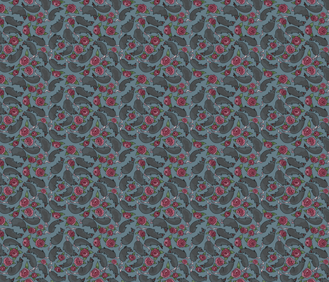 Rat-Roses fabric by inkysunshine on Spoonflower - custom fabric