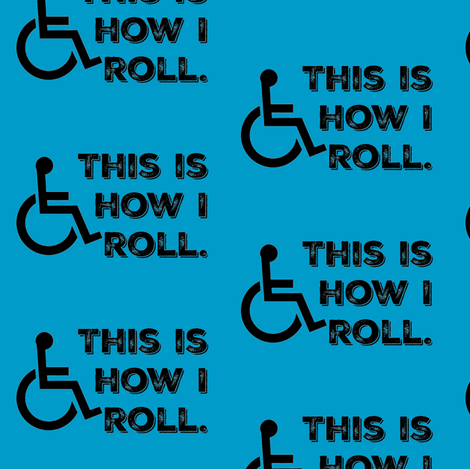 This Is How I Roll on Turquoise fabric by sunshineandspoons on Spoonflower - custom fabric