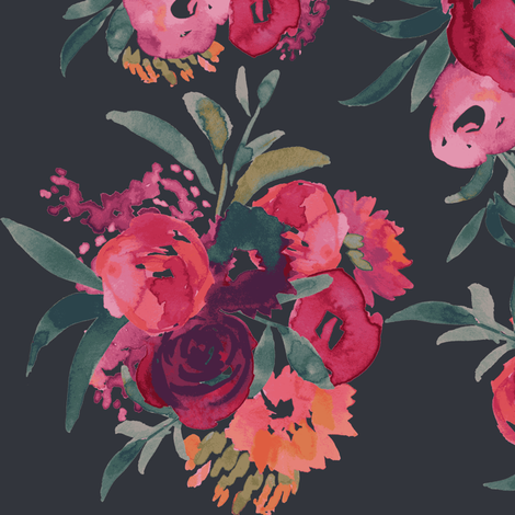 Farmers Market Floral fabric by michele_norris on Spoonflower - custom fabric