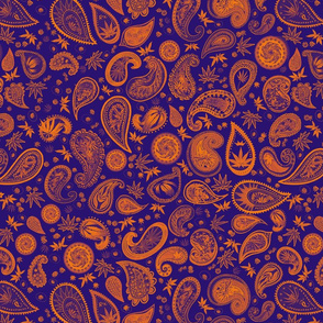 420 Hiphop Paisley Orange Blue