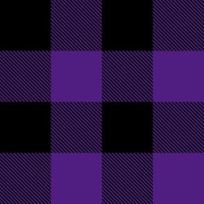 "2"" Buffalo Plaid with Twill Pattern | Purple and Black K070"