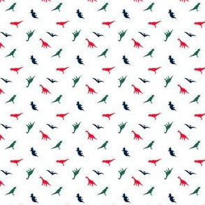 (micro scale) Dinos // red/green/navy