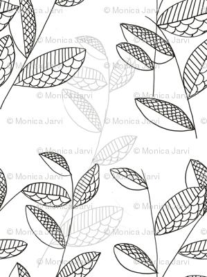 leaf drawing tile