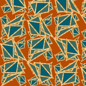 triangles with white lines