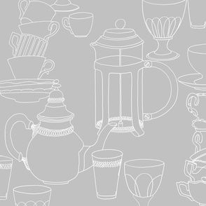 Crockery (white on grey)