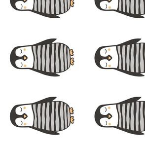 Penguin Plush Plushie Softie Cut & Sew 8 inch
