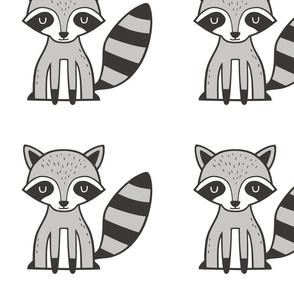 Raccoon Plush Plushie Softie Cut & Sew  8 inch