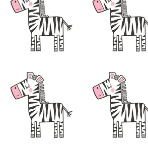 Zebra Plush Plushie Softie Cut & Sew 8 inch