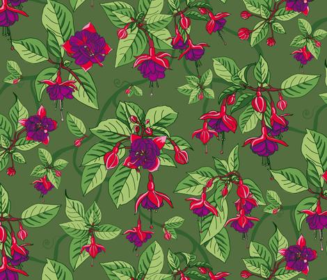 Sweet Fuchsia fabric by odettel on Spoonflower - custom fabric