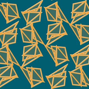 saffron triangles with white edges