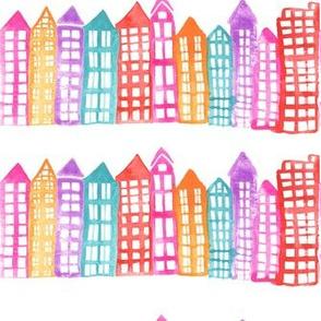 Little Houses - Watercolor