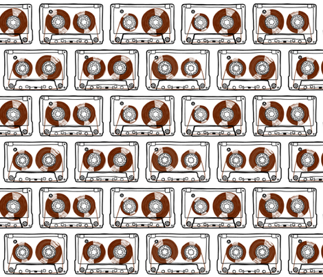 Doodle Tapes - Brown fabric by autumn_musick on Spoonflower - custom fabric