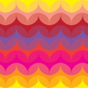 Simple Leaf Pattern in Pinks