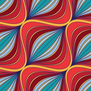 Curve Pattern Jewel Tones