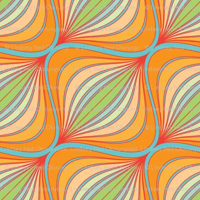 Curve Pattern Tangerine