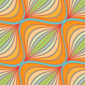 Curve Pattern Tangerine by ArtfulFreddy