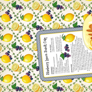 Tea Towel - Blueberry Lemon