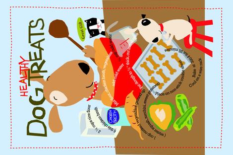 Dog Treat tea towel fabric by dale_coykendall on Spoonflower - custom fabric