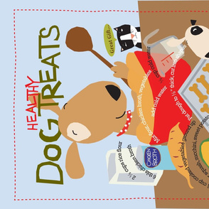 Dog Treat tea towel