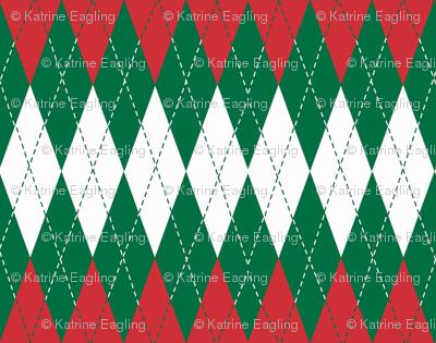 Holiday Argyle-Christmas