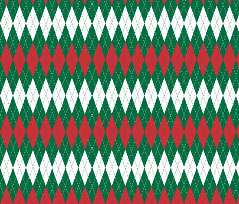 Holiday Argyle-Christmas fabric by kae50 on Spoonflower - custom fabric