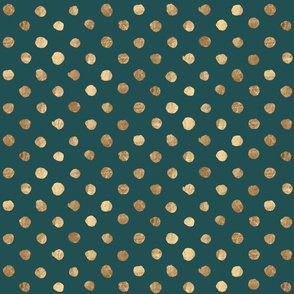 Dot Gold on evergreen