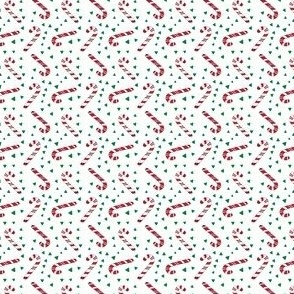 (micro scale) candy canes || kelly green C18BS