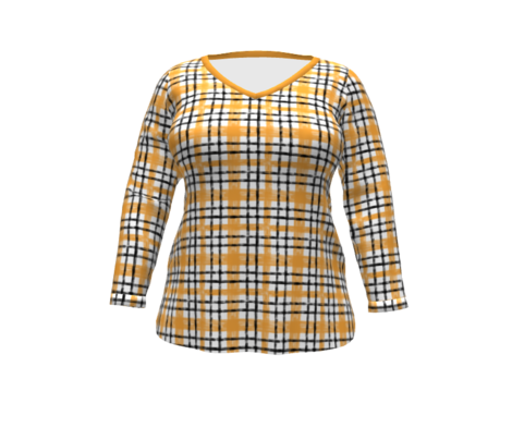October Plaid N1 Saffron classic