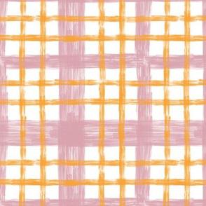 October Plaid N1 Blush & Saffron