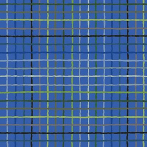 Color Lattice of blue and green on blue