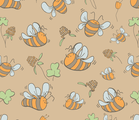 honey1 fabric by sofigrike on Spoonflower - custom fabric