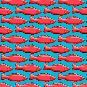 candy fish on blue C18BS