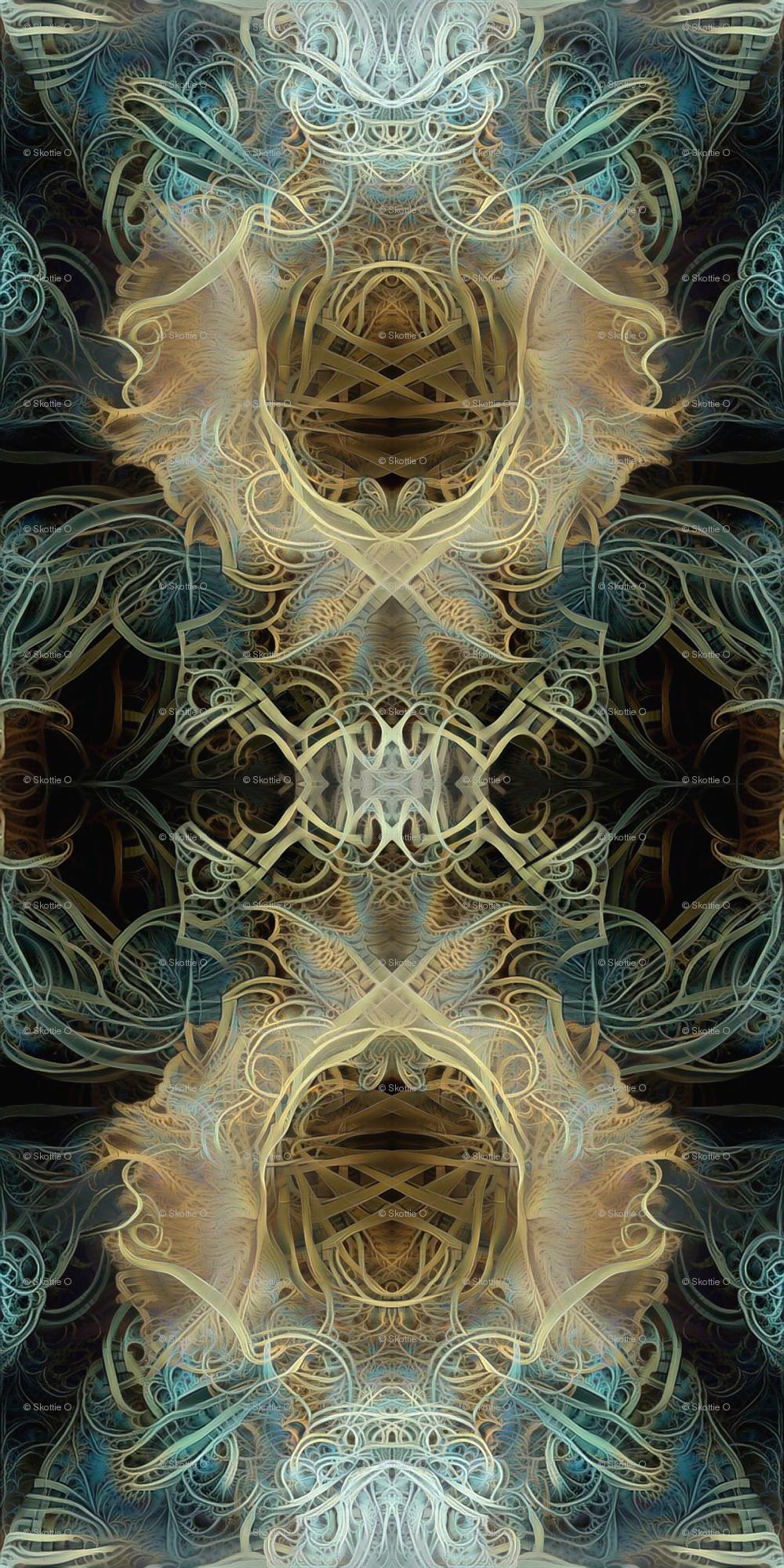 Golden Chalice | Opera Voices wallpaper - skotoart - Spoonflower