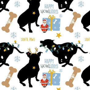 Bull Terrier Christmas(Large)