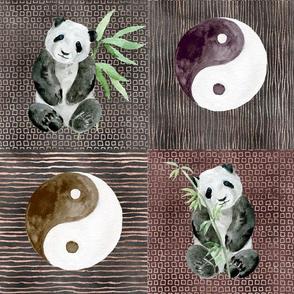 Harmonious Panda Patchwork