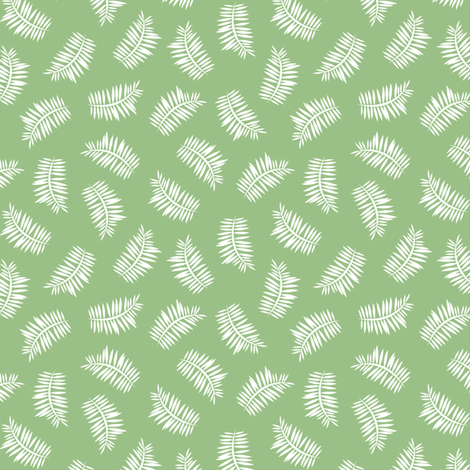 Grass Green Ferns fabric by elsy's_art on Spoonflower - custom fabric