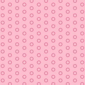 Blush Pink Open Circles - Two Toned