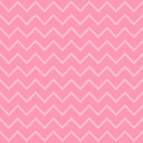 Rose Pink Chevron - Two Tone Thin Zig Zag
