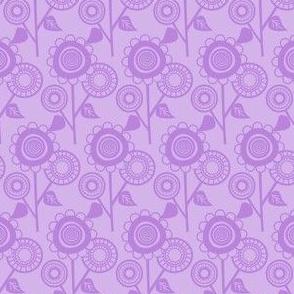 Lavender Mid Century Modern Flowers