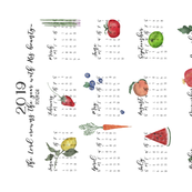 2019 Tea Towel Calendar.Bounty