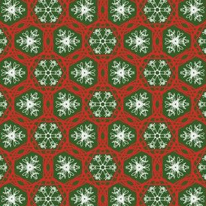 snowflake red green hex