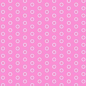 Pink Open Circles - Two Tone