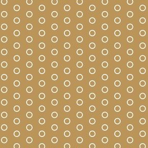 Coffee Brown and White Open Circles