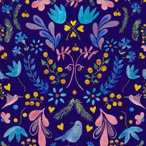 Swedish Folk Art Blue