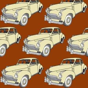 cream 1942 Studebaker 2 door sedan