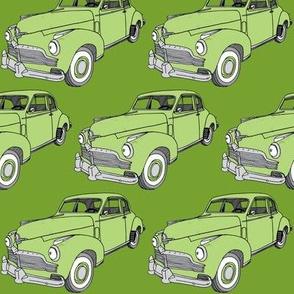 Green 1942 Studebaker 2 door sedan