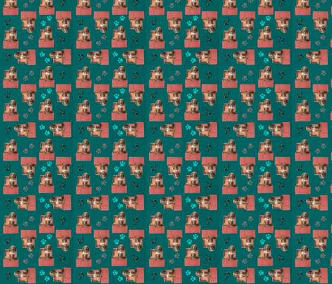 Dachshund treasures fabric by milez&mama on Spoonflower - custom fabric