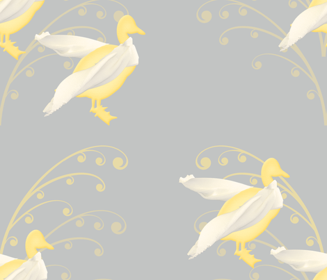 duck in scarf fabric by teacupcrafts_ on Spoonflower - custom fabric